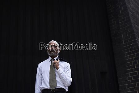portrait of senior businessman with grey