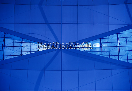 architecture blue abstract