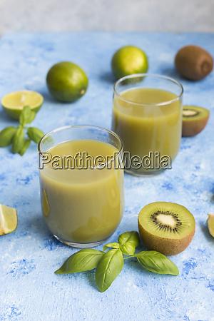 glasses of kiwi lime juice