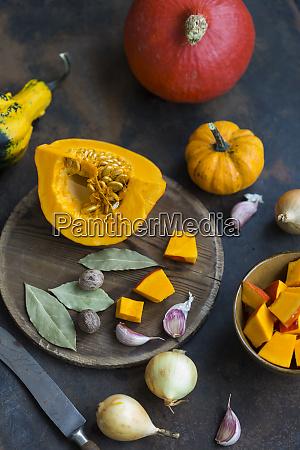 ingredients of pumpkin soup