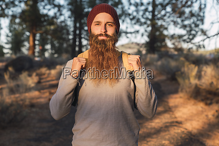 usa north california portrait of bearded