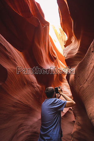 usa arizona lower antilope canyon tourist