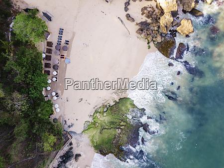 indonesia bali aerial view of beach