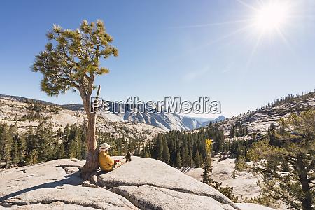 usa california yosemite national park hiker