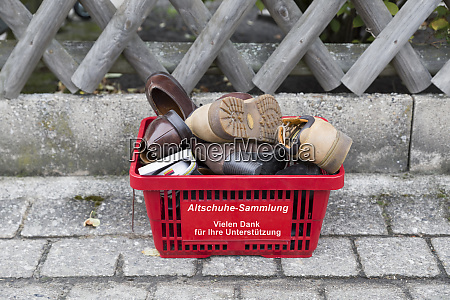 germany collection of donated old shoes