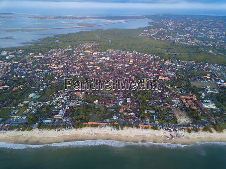indonesia bali aerial view of jimbaran