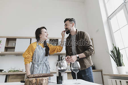 couple in love having fun together