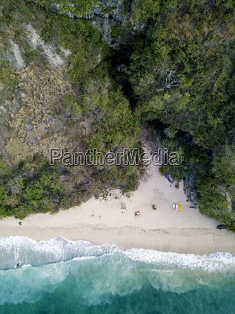 indonesia bali aerial view of payung