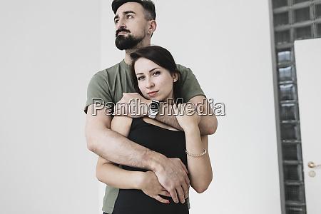 sensual couple embracing