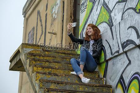 italy finale ligure redheaded teenage girl