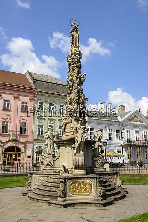 slovakia kosice old town plague column