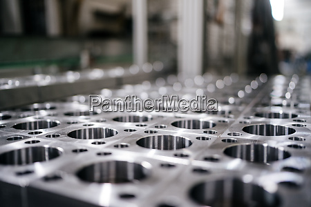 stainless steel form in a factory