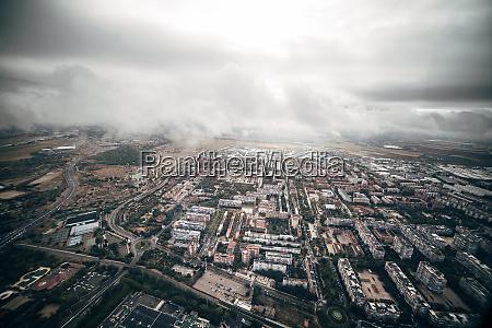 spain aerial view of madrid