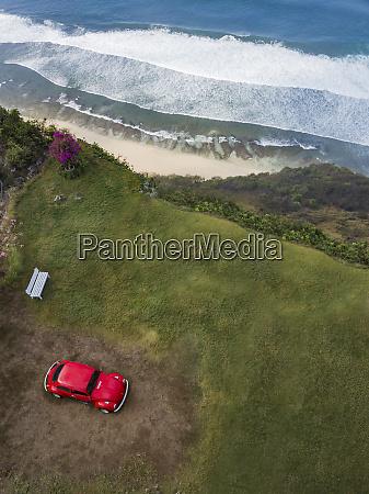 indonesia bali aerial view of nyang