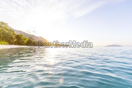 seychelles mahe beau vallon beach at