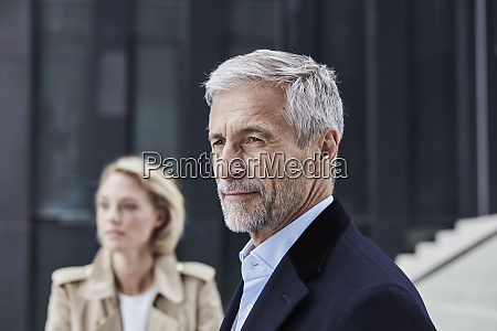 portrait of mature businessman with grey