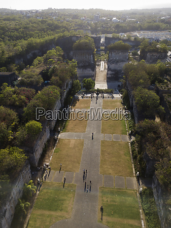indonesia bali aerial view of gwk