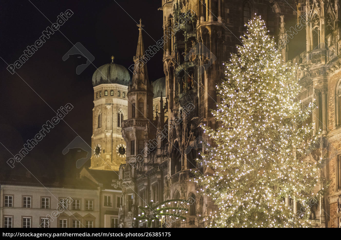 Christmas In Munich Germany.Stock Photo 26385175 Germany Munich Bright Shining Christmas Tree In Front Of Old