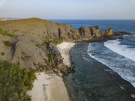 indonesia lombok aerial view of beaches