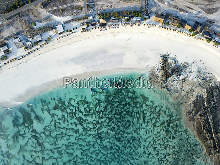 indonesia lombok aerial view of tanjung