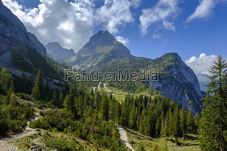 austria tyrol view to ehrwalder sonnenspitze