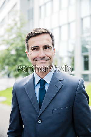 portrait of smiling businessman in the