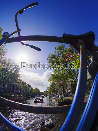 netherlands amsterdam bicycle at prinsengracht