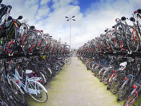 netherlands amsterdam bicycles at de ruijterkade