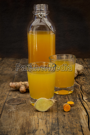 ginger shot with curcuma