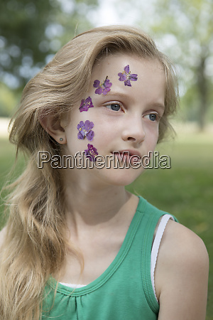 portrait of blond girl with tattoo