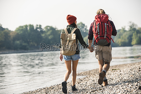 rear view of young couple with