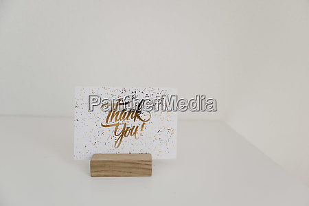 sign thank you card