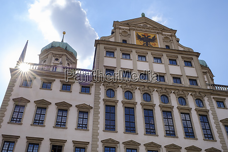 germany bavaria augsburg townhall east facade