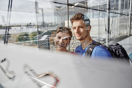 portrait of smiling couple at the