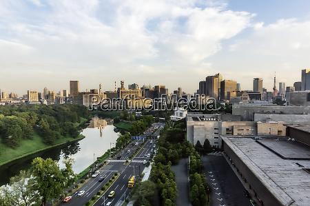 japan tokyo chiyoda district city view