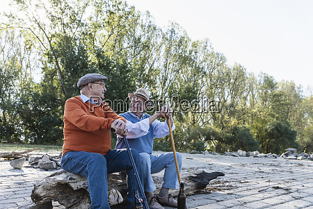 two old friends sitting on a