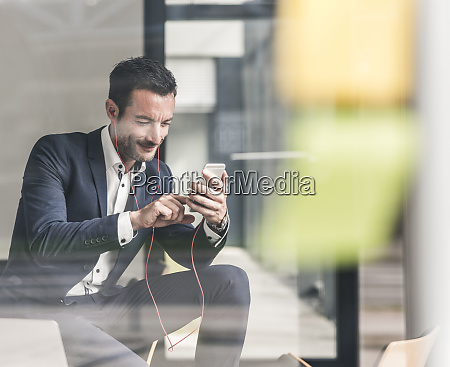 businessman talking on the phone using