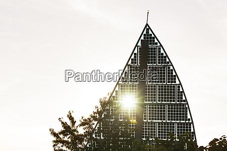 germany karlsruhe sail shaped solar panels