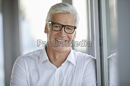 portrait of a businessman in office