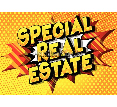 special real estate comic book