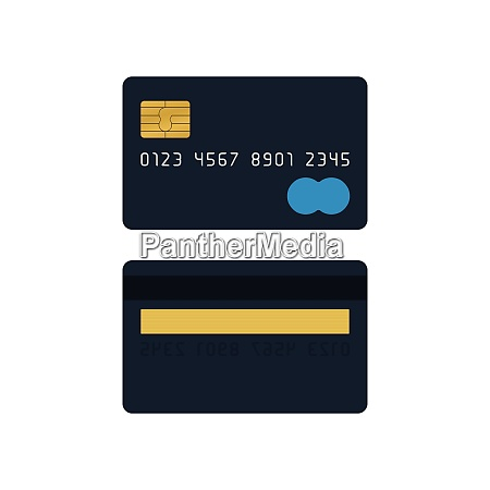 black credit card front and back