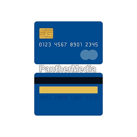 blue credit card front and back