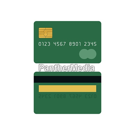 green credit card front and back