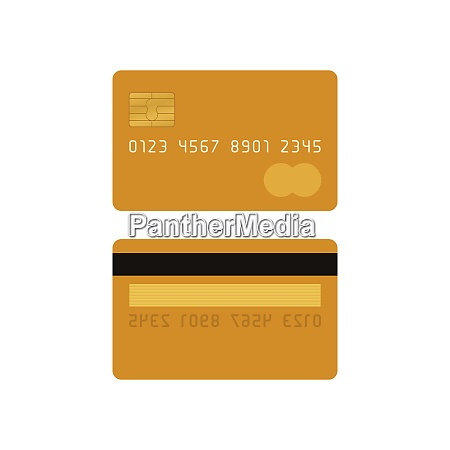yellow credit card front and back