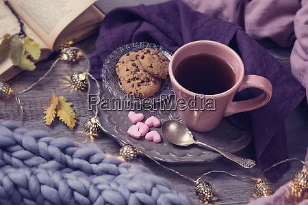 pink cup of tea