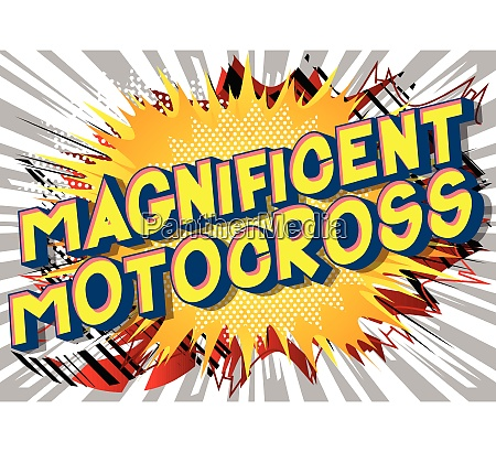 magnificent motocross comic book style