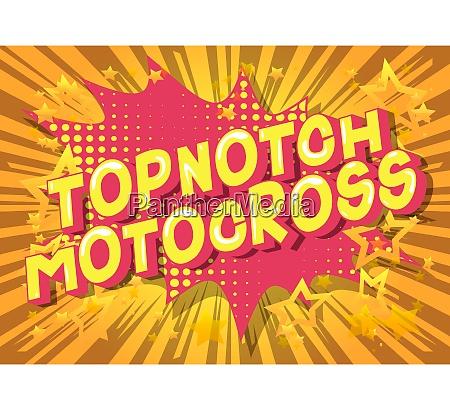 topnotch motocross comic book style