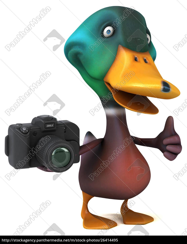 fun, duck, -, 3d, illustration - 26414495
