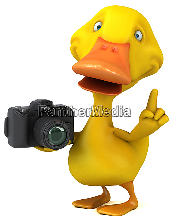fun, duck, -, 3d, illustration - 26414497