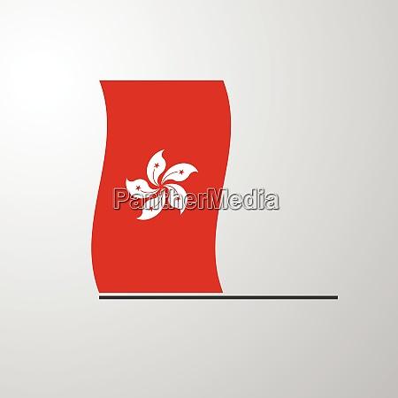 hongkong waving flag